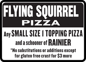 Flying Squirrel Pizza